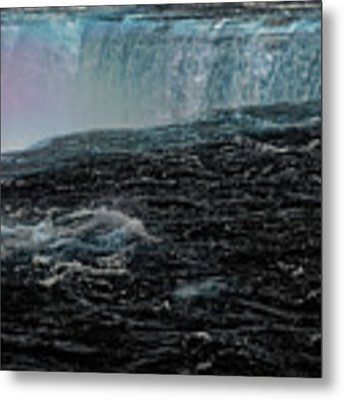 Black Niagara Metal Print by Richard Ricci