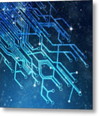 Circuit Board Technology Metal Print by Setsiri Silapasuwanchai