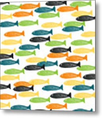 Colorful Fish  Metal Print by Linda Woods