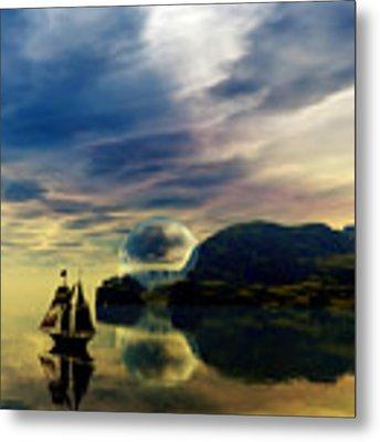 Reflection Bay Metal Print by Sandra Bauser Digital Art