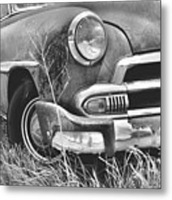 1951 Chevrolet Power Glide Black And White 2 Metal Print by Lisa Wooten