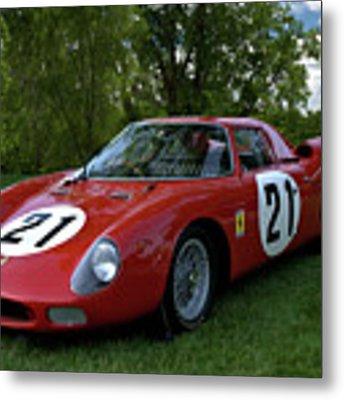 1965 Ferrari V12 250 Lm Metal Print by Tim McCullough