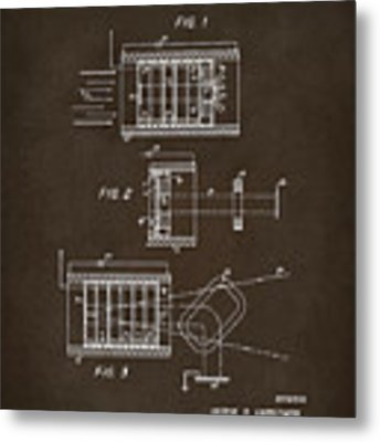 1969 Short Wave Electromagnetic Radiation Patent Espresso Metal Print by Nikki Marie Smith