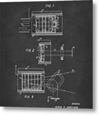 1969 Short Wave Electromagnetic Radiation Patent Gray Metal Print by Nikki Marie Smith