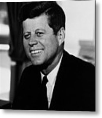 President Kennedy Metal Print by War Is Hell Store