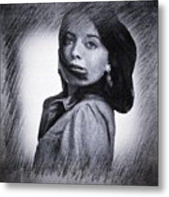 Selfportrait  Metal Print by Colette V Hera Guggenheim