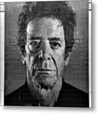 2nd Ave Subway Art Lou Reed B W Metal Print by Rob Hans