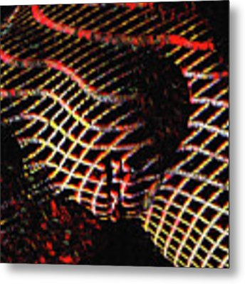 5502s-mak Abstract Vulval Portrait In Red Metal Print by Chris Maher