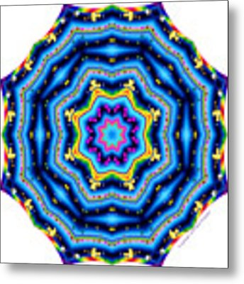 6 To 60 Kaleidoscope Metal Print by Brian Gryphon