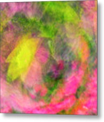 Impression Series - Floral Galaxies Metal Print by Ranjay Mitra