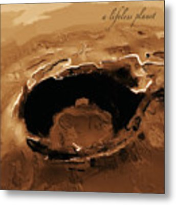 A Lifeless Planet Brown Metal Print by ISAW Company