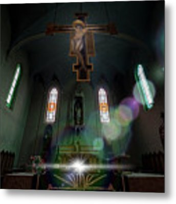 Abandoned Blue Church - Chiesa Blu Abbandonata Metal Print by Enrico Pelos