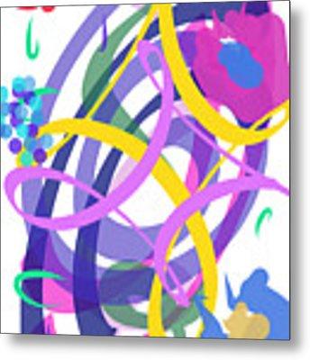 Abstract Garden #2 Metal Print by Bee-Bee Deigner