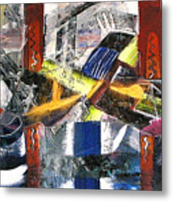 Abstract Painting Metal Print by Robert Thalmeier