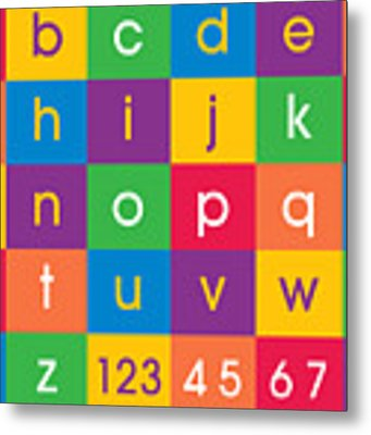 Alphabet Colors Metal Print