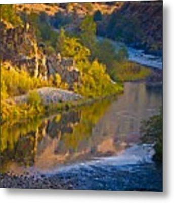 American River Triptych 2 Metal Print by Sherri Meyer