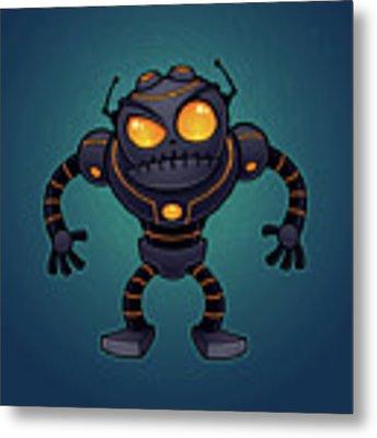 Angry Robot Metal Print