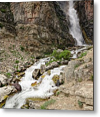Apikuni Falls Metal Print by Margaret Pitcher