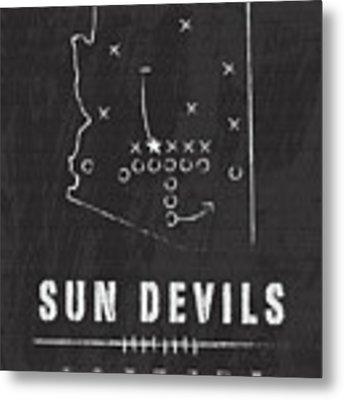Arizona State Sun Devils / Ncaa College Football Art / Tempe Metal Print by Damon Gray