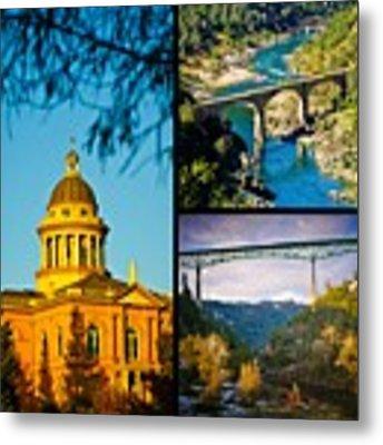 Auburn California Triptych 2 Metal Print by Sherri Meyer