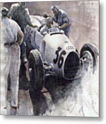 Auto Union B Type 1935 Italian Gp Monza B Rosermeyer Metal Print by Yuriy Shevchuk