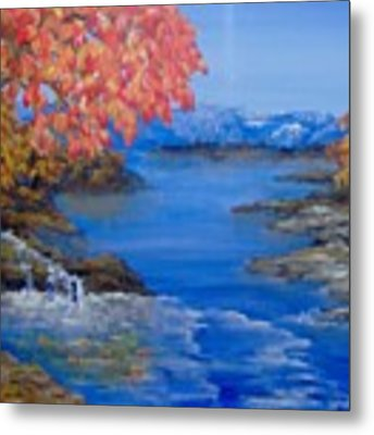 Autumn Metal Print by Saundra Johnson
