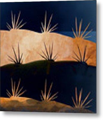 Baja Landscape Number 1 Square Metal Print by Carol Leigh