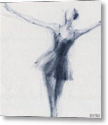 Ballet Sketch Dying Swan Metal Print by Beverly Brown