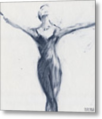 Ballet Sketch Open Arms Metal Print by Beverly Brown