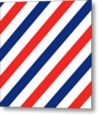 Barber Stripes Metal Print by Julia Jasiczak
