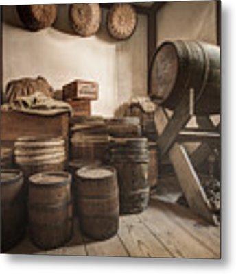 Barrels By The Window Metal Print by Gary Heller