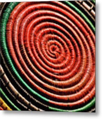 Basketry Color Metal Print by Grace Dillon