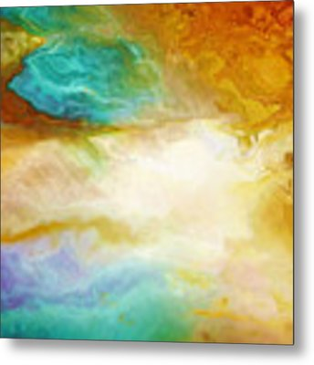Becoming - Abstract Art - Triptych 2 Of 3 Metal Print by Jaison Cianelli