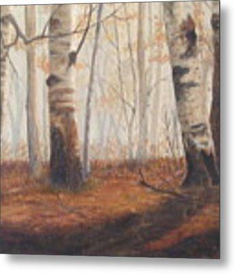 Birches Metal Print by Jan Byington