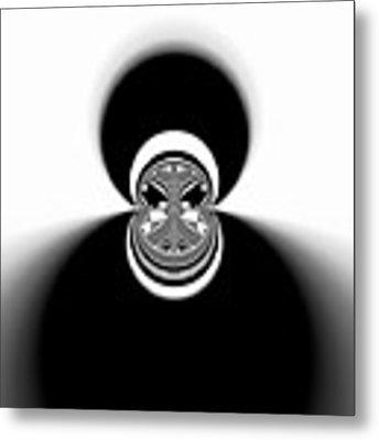 Black And White Mandala 35 Metal Print by Robert Thalmeier