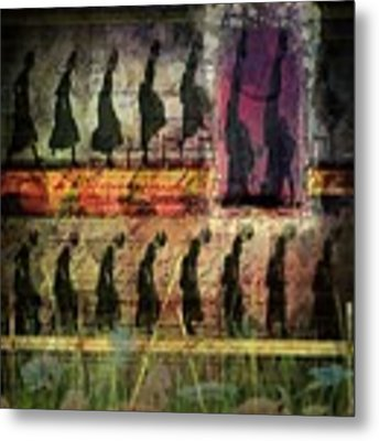 Body In Motion Metal Print by Delight Worthyn