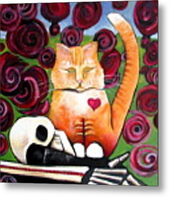 Boris And Me Metal Print by Delight Worthyn
