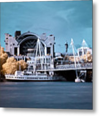 Bridge To Charing Cross Metal Print by Helga Novelli