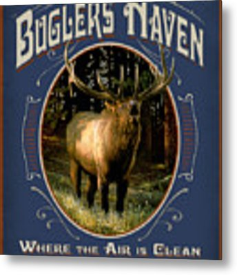 Buglers Haven Sign Metal Print