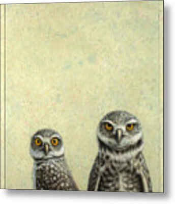 Burrowing Owls Metal Print