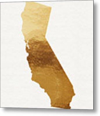 California Gold- Art By Linda Woods Metal Print by Linda Woods