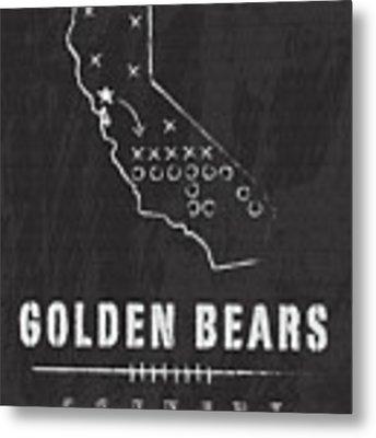 California Golden Bears / Ncaa College Football Art / Berkeley Metal Print by Damon Gray