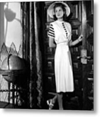 Casablanca, Ingrid Bergman Wearing Metal Print by Everett
