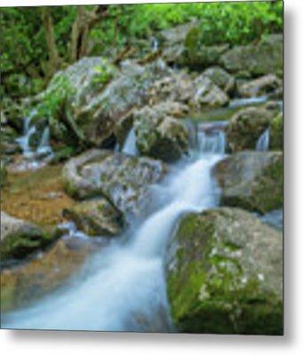 Catawba Stream Cascades At High Shoals Falls In North Carolina Metal Print by Ranjay Mitra