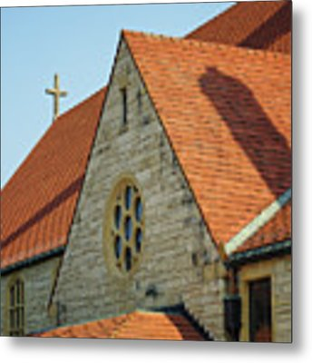 Cathedral Of The Sacred Heart In Winona Minnesota By Yearous Metal Print by Kari Yearous