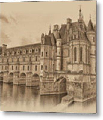 Chateau De Chenonceau Metal Print by Nigel Fletcher-Jones