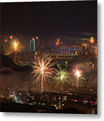 Chinese New Year Fireworks 2018 I Metal Print by William Dickman