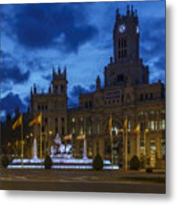 Cibeles Fountain Madrid Spain Metal Print by Pablo Avanzini