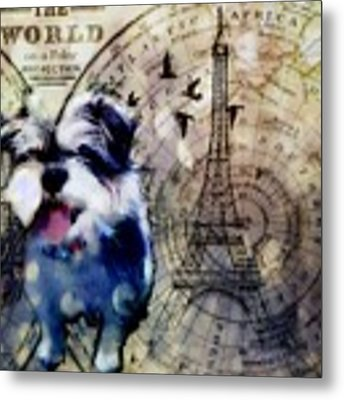 City Girl Goes To Paris Metal Print by Delight Worthyn