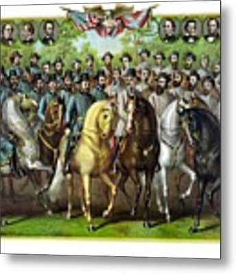 Civil War Generals And Statesman Metal Print